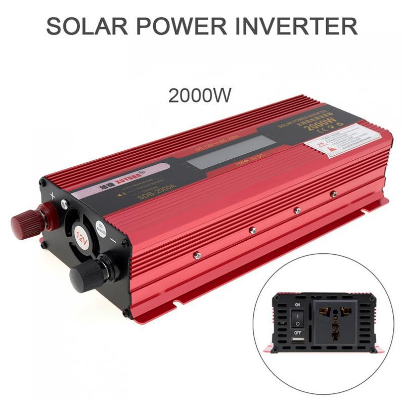 Portable Power Car Inverter With LCD Display ( 2000W )