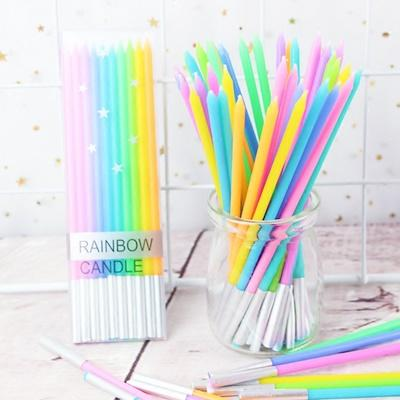 Set de velas arcoiris