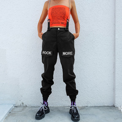 Rock and Roll Joggers Instashop cargo pants chic casual trousers overall
