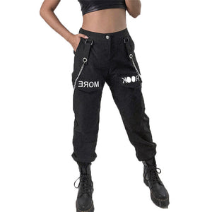 Rock and Roll Joggers Industrial Instashop pants chic casual trousers overall