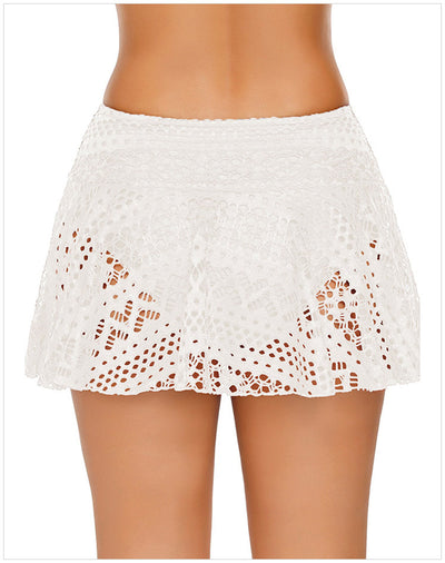 Crochet Lace Style 2020 Women Bikini Swimdress high waist boxer pants
