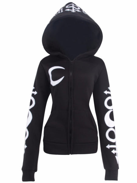 Witch Craft big hood hooded Hoodie Sweatshirt Gothic Style for Women