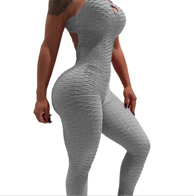 Hot New Women's Sexy Open Back Top Yoga Exercise Fitness Sportswear Pants Tight Tummy Jumpsuit