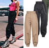 Gothic high waist Cargo Pants Cotton bf Punk hip hop style Harem Joggers