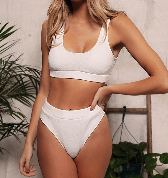 new bikini knitted high waist boxers swimwear women's split swimwear European American B63