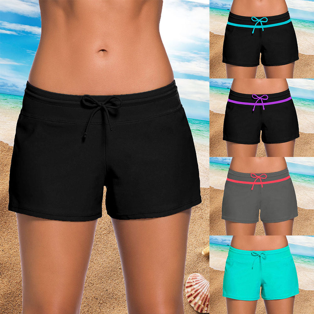 Summer Women Swimming boxer pants trunks bikini swimwear many color