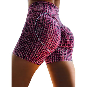 Women High Waist 2020 Tye Dye printed Yoga Shorts Pants for Workout exercise running and fitness Stretch Tight