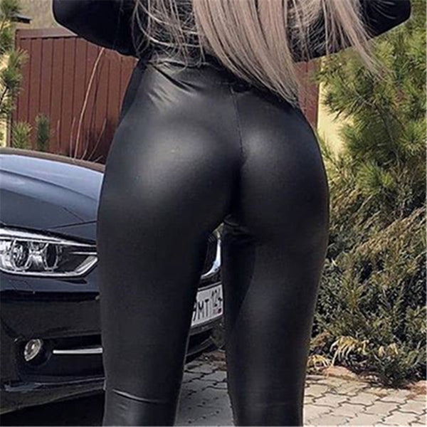 Autumn and Winter Warm Popular PU leather trousers high waist pencil pants plus size