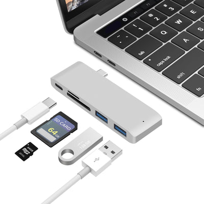 For Macbook Pro hub converter USB-C to HDMI adapter TF card SD card docking station card reader