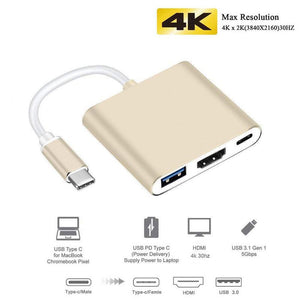 USB C HUB to HDMI for Macbook Pro/Air Thunderbolt 3 USB Type C Dock Adapter support Samsung Dex mode with PD USB 3.0