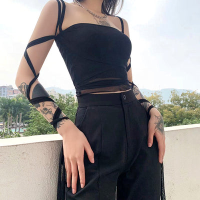 bondage dew umbilical dew cord spaghetti sling small vest wrap slim fit camisole