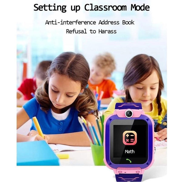 14mm Children's Smart Watch SOS Phone Watch Electronic Fence With Sim Card Photo Waterproof IP67 Kids Gift For IOS Android