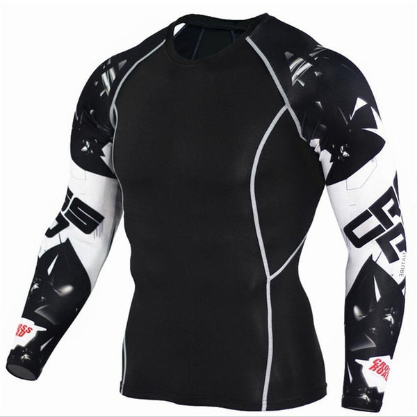 Sportswear Rash Guard Sport Shirt Men Compression Pants Gym Running Shirt Men Fitness Leggings Clothes Tight Suit