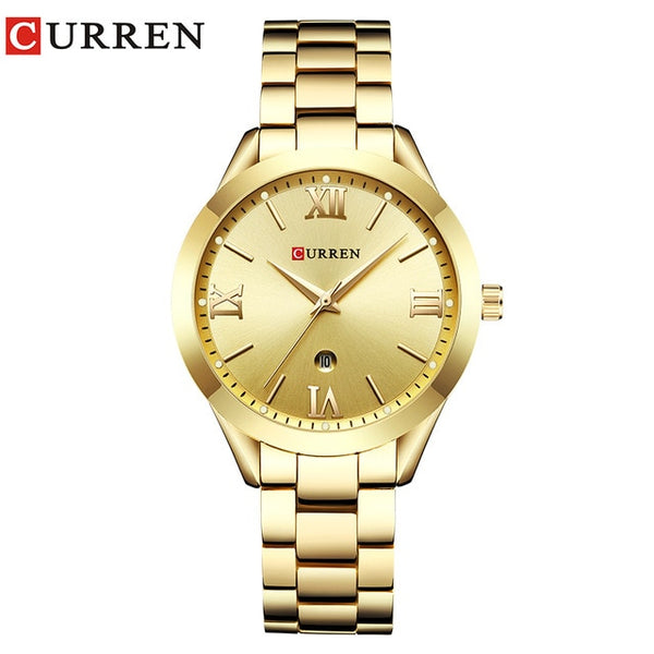CURREN Golden Watch Ladies WristWatch Women's Bracelet Watches