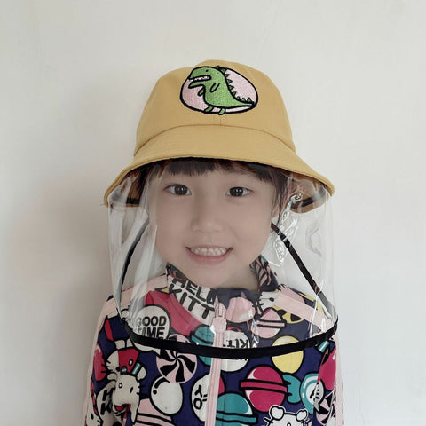 TPU Baby Boys Girls Hat Visor Dinosaur Anti-fog Full Face