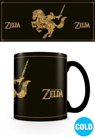 The Legend Of Zelda - Mug Thermoréactif : Map/Silhouette
