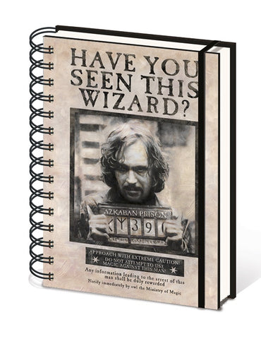 HARRY POTTER - NOTEBOOK A5 - WANTED SIRIUS BLACK