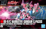 GUNDAM - HG 1/144 NARRATIVE GUNDAM C-PACKS - MODEL KIT 13CM