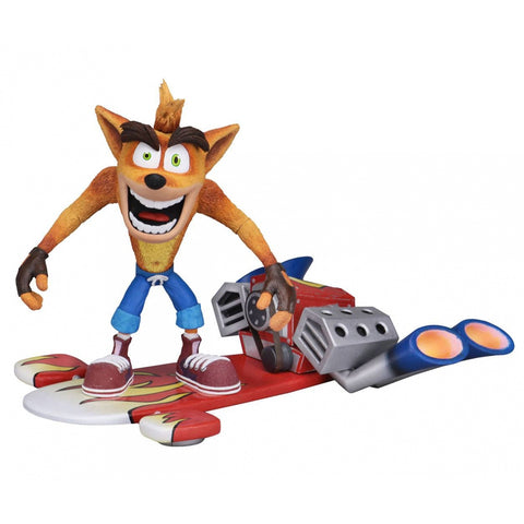 Crash Bandicoot - Figurine Deluxe Hoverboard (14cm)