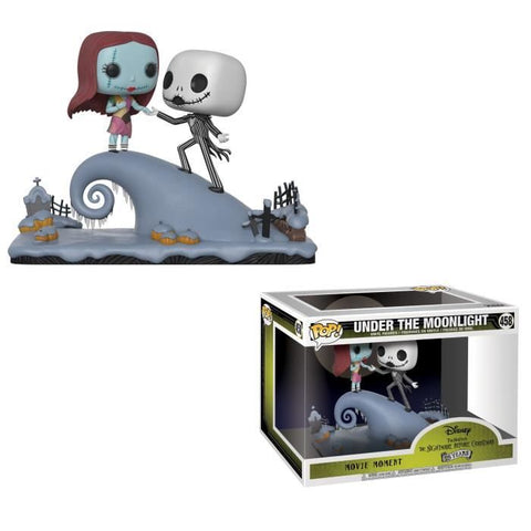 "Funko POP! Movie Moments - The Nightmare Before Christmas (25Years) : Jack & Sally ""Under The Moonlight"" (458)"