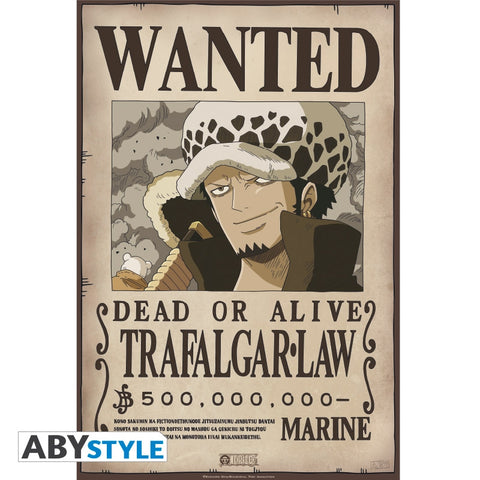 "One Piece - Poster ""Wanted Trafalgar Law"" (52x35)"