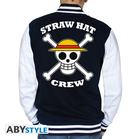 "One Piece : Teddy - ""Straw Hat Crew"" homme navy/quiz (L)"