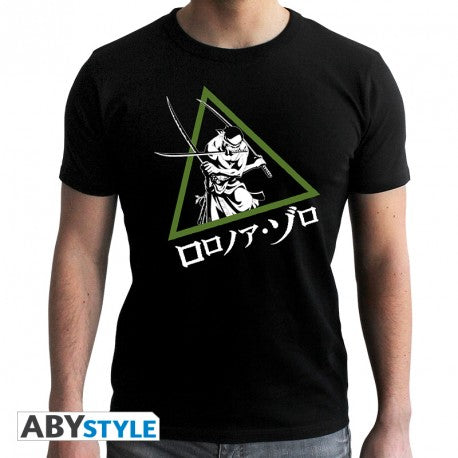 "ONE PIECE - Tshirt ""Zoro"" homme MC black - new fit (M)"