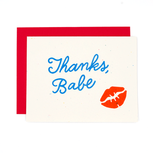 Thanks, Babe Risograph Card