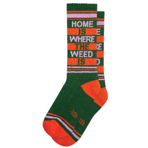 Home Is Where The Weed Is Ribbed Gym Socks