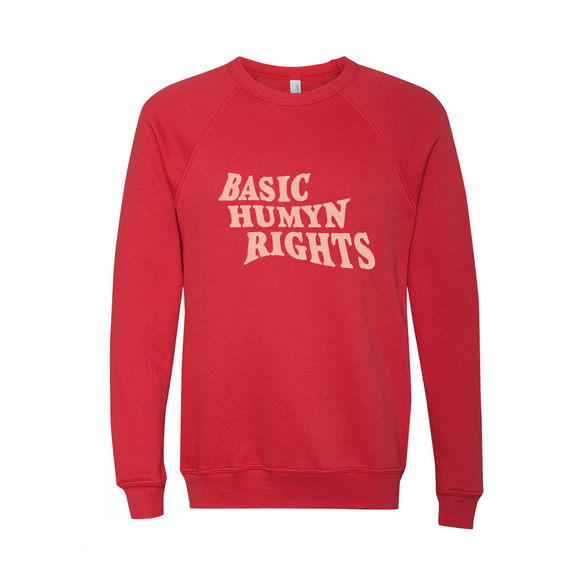 Basic Humyn Rights Crewneck Sweater Red