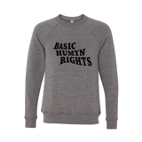 Basic Humyn Rights Crewneck Sweater Grey