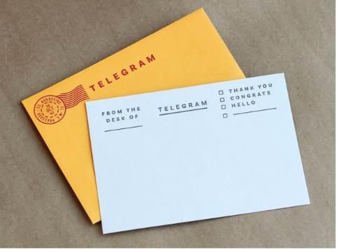 Telegram Notecards