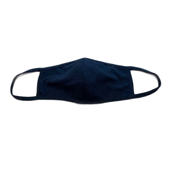 Nylon Ponte Solid Black Personal Face Mask
