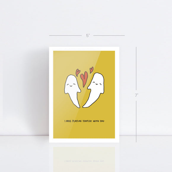 Footsie Ghost Card