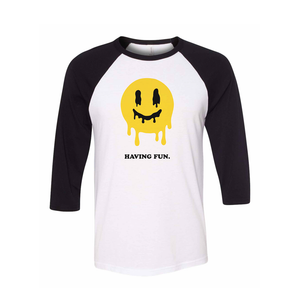Having Fun Baseball Tee