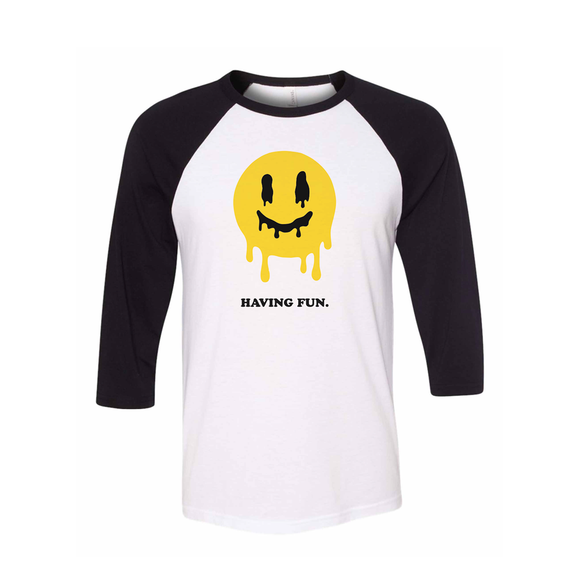 Trippy Smily Baseball Tee