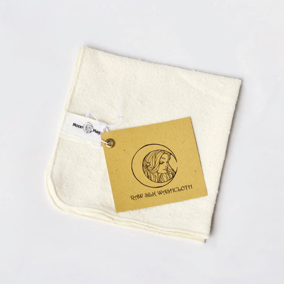 Natural Raw Silk Washcloth