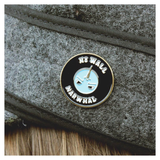 No Wall Narwhal Enamel Pin