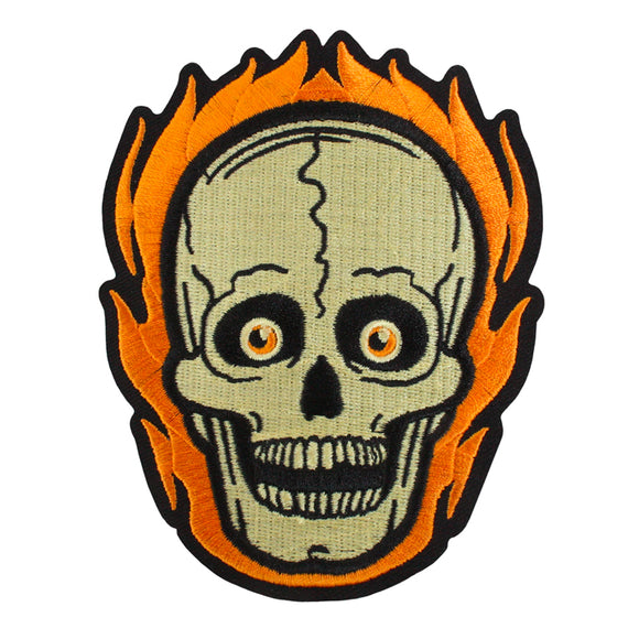 Beistle® Flaming Skull Patch