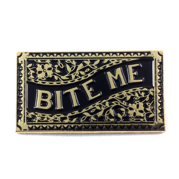 Bite Me Enamel Pin