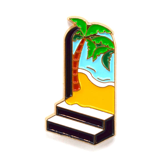 Door Enamel Pin