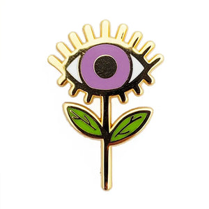 Evil Eye Flower Enamel Pin