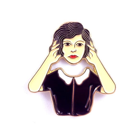 Headless Woman Enamel Pin
