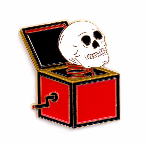 Skullbox Enamel Pin