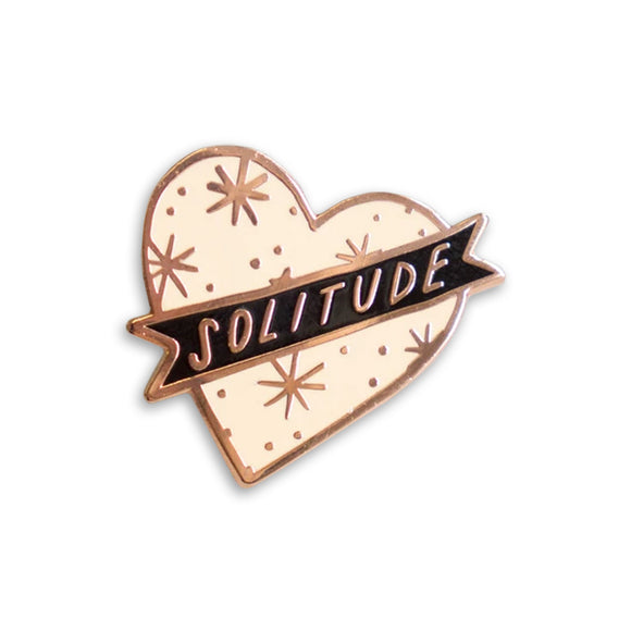 Pink Solitude Enamel Pin