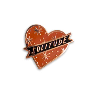 Red Solitude Enamel Pin