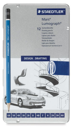Staedtler Lumograph Graphite Pencil Sets, Set of 12