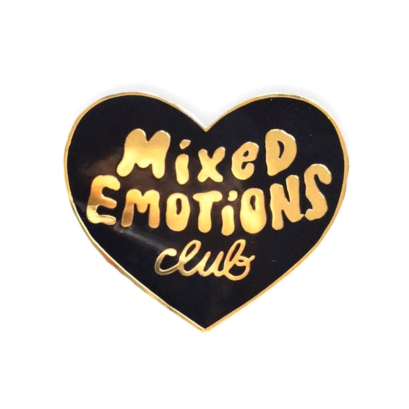 Mixed Emotions Club Enamel Pin - Black