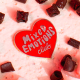 Mixed Emotions Club Enamel Pin - Red