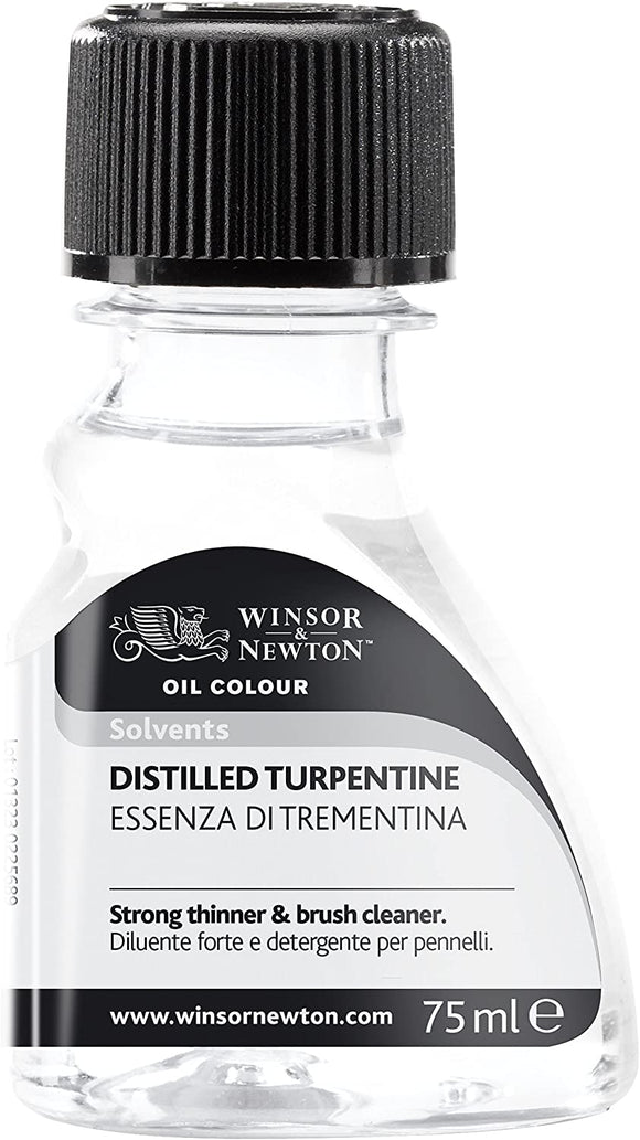 Winsor & Newton Distilled Turpentine, 2.5 oz